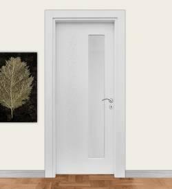 Ado 7011 Boy Camlı Desenli Beyaz Kompozit Kapı
