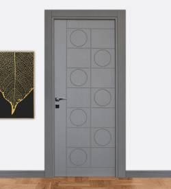 Ado 7020 Göbekli Gri Kompozit Iç Kapı