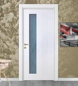 Versace Desenli Camlı Lake Iç Kapı