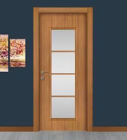 Abd Ceviz Camlı Melamin Salon Kapısı