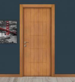 Abd Ceviz Göbekli Melamin Ev Kapısı