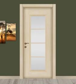 Akmeşe Camlı Ve Çıtalı Melamin Salon Kapısı