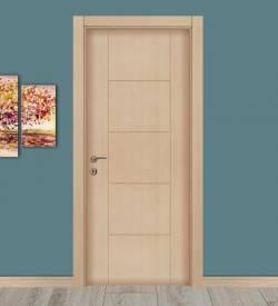 Beyaz Meşe Renkli Göbekli Melamin Kapı
