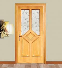 Camlı Meşe Kapı Model 103