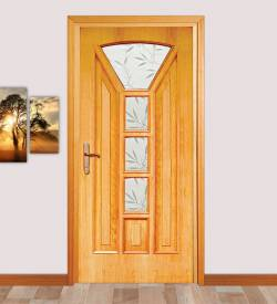 Camlı Meşe Kapı Model 104