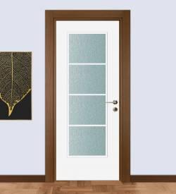 Ceviz Kasa Ve Beyaz Kanatlı Laminat Oda Kapısı