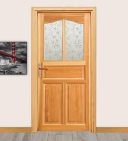 Model 105 Camlı Masif Kapı